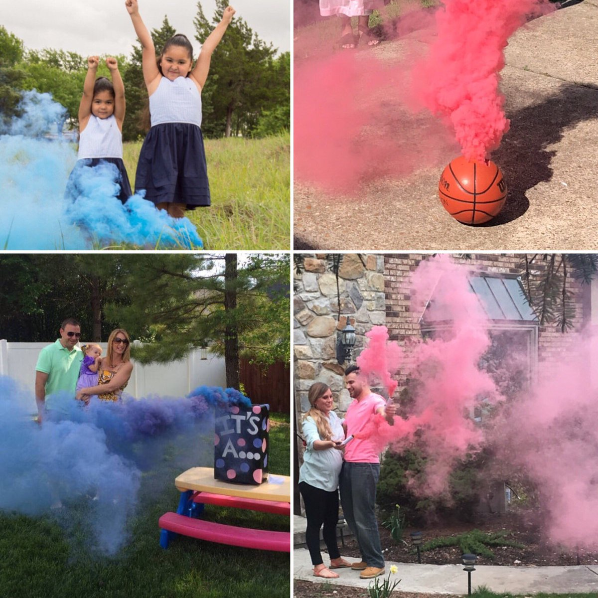 colored smoke sticks gender reveal smoke bombs